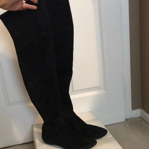 Belle sigerson Morrison blk suede high boot
